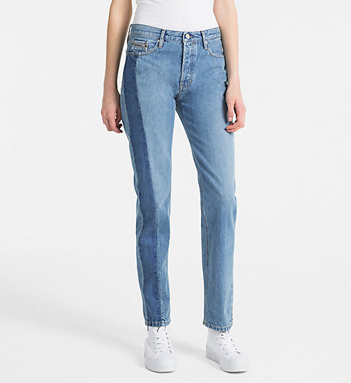 CALVIN KLEIN JEANS High Rise Straight Jeans - LIGHT VERTICAL STR - CALVIN KLEIN JEANS BLUES MASTER - main image