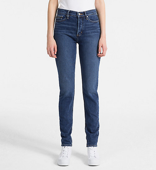 CALVIN KLEIN JEANS High Rise Slim Jeans - TRUE BLUE CMF - CALVIN KLEIN JEANS NEW IN - main image