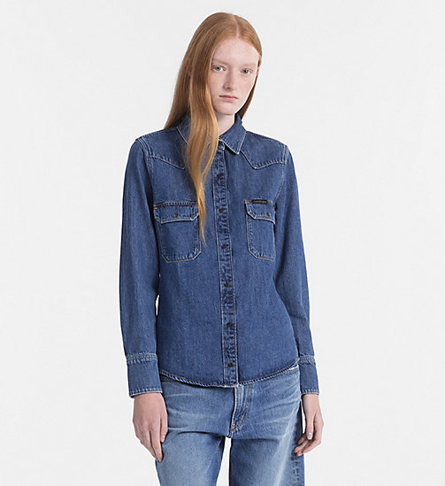 CALVIN KLEIN JEANS Western Denim Shirt - DISORDER BLUE RGD -  NEW IN - main image