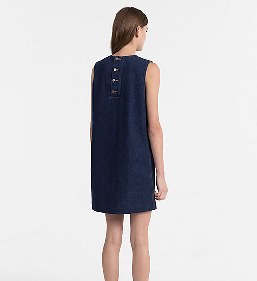 CALVIN KLEIN JEANS Denim Shift Dress - BANHOF BLUE RGD - CALVIN KLEIN JEANS DRESSES - detail image 1