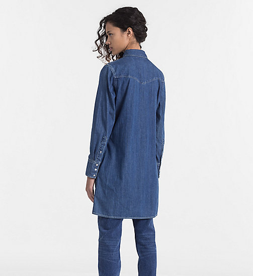 CALVIN KLEIN JEANS Western Denim Shirt Dress - CHRISTIANE DRESS - CALVIN KLEIN JEANS CLOTHES - detail image 1