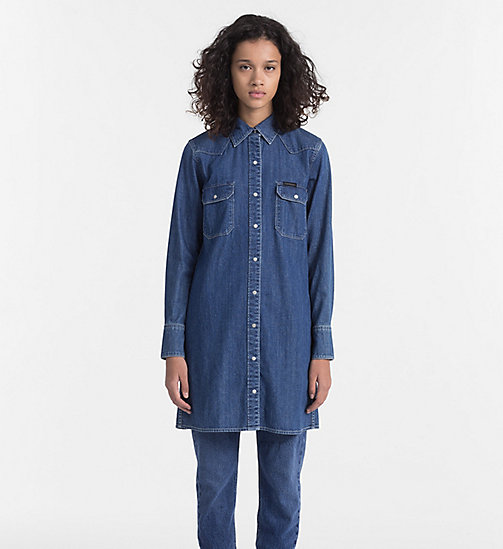 CALVIN KLEIN JEANS Western Denim Shirt Dress - CHRISTIANE DRESS - CALVIN KLEIN JEANS CLOTHES - main image