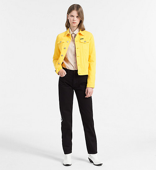 CALVIN KLEIN JEANS Denim Trucker Jacket - SPECTRA YELLOW RGD - CALVIN KLEIN JEANS NEW IN - detail image 1