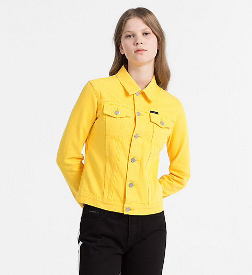 CALVIN KLEIN JEANS Denim Trucker Jacket - SPECTRA YELLOW RGD - CALVIN KLEIN JEANS NEW IN - main image