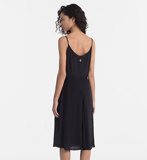 CALVIN KLEIN JEANS Crepe Slip Dress - CK BLACK - CALVIN KLEIN JEANS NEW IN - detail image 1