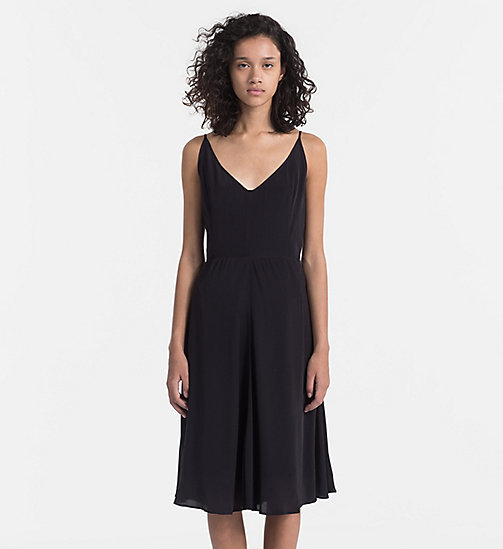 CALVIN KLEIN JEANS Crepe Slip Dress - CK BLACK - CALVIN KLEIN JEANS NEW IN - main image