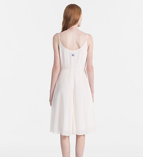 CALVIN KLEIN JEANS Crepe Slip Dress - PEARLED IVORY - CALVIN KLEIN JEANS NEW IN - detail image 1