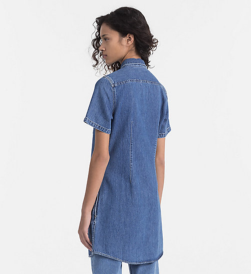 CALVIN KLEIN JEANS Denim Shirt Dress - INDIGO - CALVIN KLEIN JEANS CLOTHES - detail image 1
