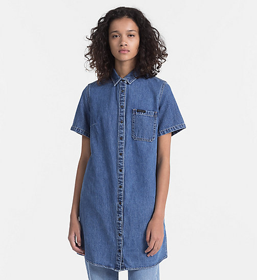 CALVIN KLEIN JEANS Denim Shirt Dress - INDIGO - CALVIN KLEIN JEANS DRESSES - main image