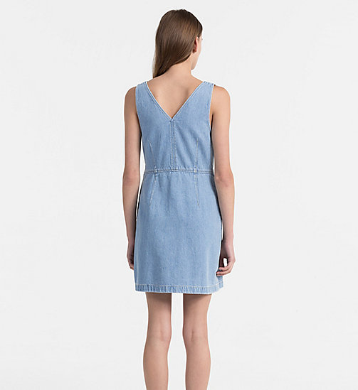 CALVIN KLEIN JEANS Fitted Denim Dress - LIGHT INDIGO - CALVIN KLEIN JEANS DRESSES & SKIRTS - detail image 1