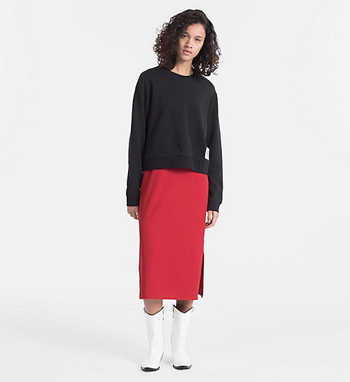 CALVIN KLEIN JEANS Cropped Sweatshirt - CK BLACK / BRIGHT WHITE - CALVIN KLEIN JEANS NEW IN - detail image 1