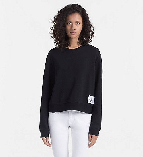 CALVIN KLEIN JEANS Cropped Sweatshirt - CK BLACK / BRIGHT WHITE - CALVIN KLEIN JEANS NEW IN - main image