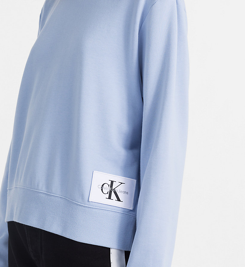 CALVIN KLEIN JEANS Cropped Sweatshirt - WHITE HEATHER / SPECTRA YELLOW - CALVIN KLEIN JEANS UNDERWEAR - detail image 2