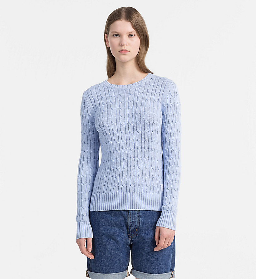 CALVIN KLEIN JEANS Pima Cotton Cable Jumper - CK BLACK - CALVIN KLEIN JEANS WOMEN - main image