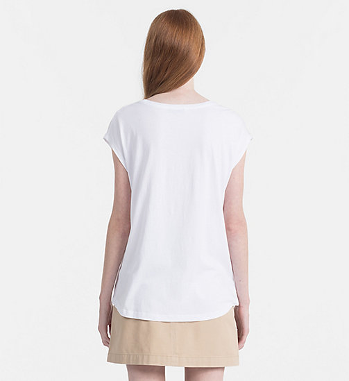 CALVIN KLEIN JEANS Cap-Sleeve Printed T-shirt - WHITE / AOP FLOWER 1 PEARLED IVORY - CALVIN KLEIN JEANS NEW IN - detail image 1
