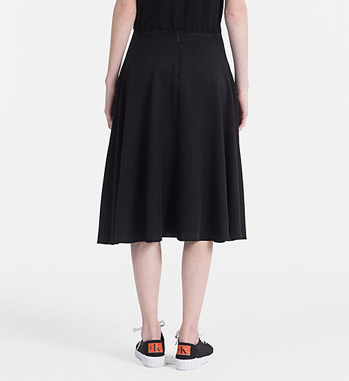 CALVIN KLEIN JEANS Flared Midi Skirt - CK BLACK - CALVIN KLEIN JEANS NEW IN - detail image 1