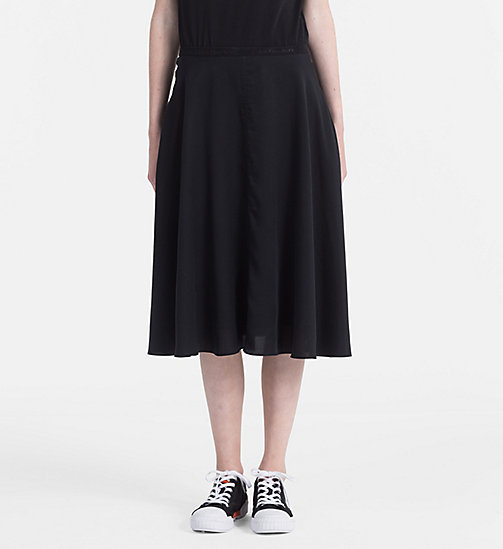 CALVIN KLEIN JEANS Flared Midi Skirt - CK BLACK - CALVIN KLEIN JEANS NEW IN - main image