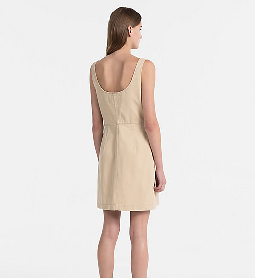 CALVIN KLEIN JEANS Cotton Twill Dress - SAFARI - CALVIN KLEIN JEANS CLOTHES - detail image 1