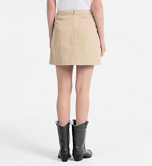 CALVIN KLEIN JEANS Canvas Mini Skirt - SAFARI - CALVIN KLEIN JEANS NEW IN - detail image 1