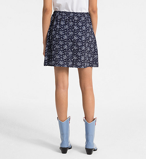 CALVIN KLEIN JEANS Floral Printed Skirt - AOP FLOWER / PEACOAT COMBO - CALVIN KLEIN JEANS SKIRTS - detail image 1