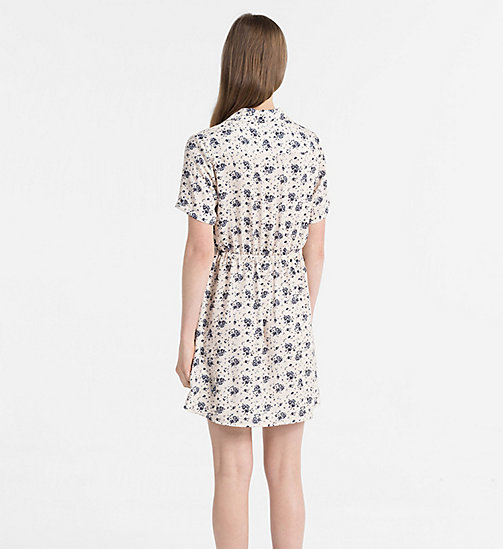 CALVIN KLEIN JEANS Crepe Floral Dress - AOP FLOWER / PEARLED IVORY COMBO - CALVIN KLEIN JEANS NEW IN - detail image 1