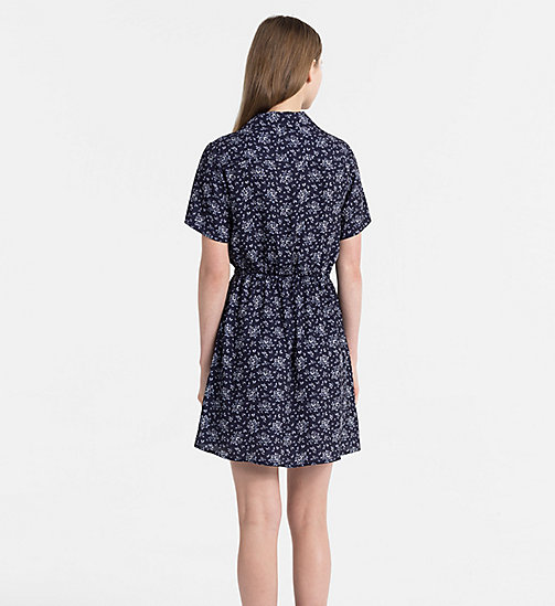 CALVIN KLEIN JEANS Crepe Floral Dress - AOP FLOWER / PEACOAT COMBO - CALVIN KLEIN JEANS NEW IN - detail image 1