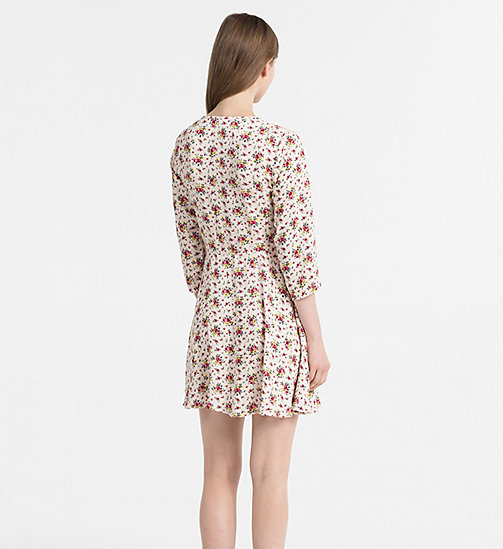 CALVIN KLEIN JEANS Crepe Floral Dress - AOP FLOWER 1 PEARLED IVORY - CALVIN KLEIN JEANS NEW IN - detail image 1