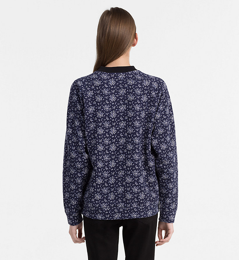 CALVIN KLEIN JEANS Floral Printed Sweatshirt - AOP FLOWER/ CHAMBRAY BLUE COMBO - CALVIN KLEIN JEANS UNDERWEAR - detail image 3