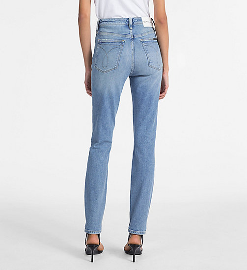 CALVIN KLEIN JEANS CKJ 010 High Rise Skinny Jeans - HEAVENLY BLUE - CALVIN KLEIN JEANS THE DENIM INDEX - detail image 1