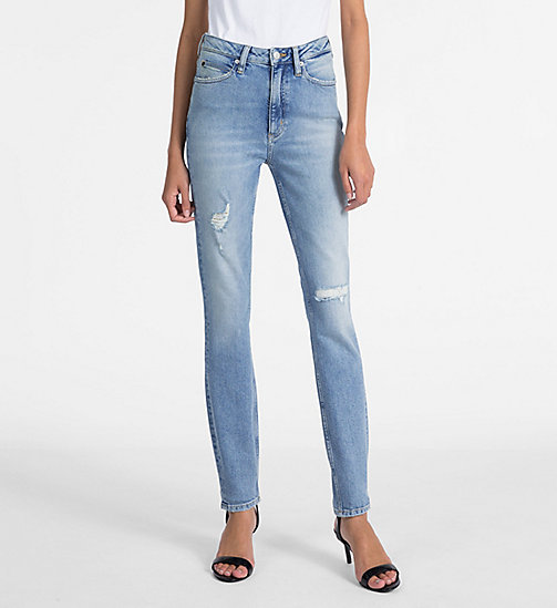 CALVIN KLEIN JEANS CKJ 010 High Rise Skinny Jeans - HEAVENLY BLUE - CALVIN KLEIN JEANS THE DENIM INDEX - image principale