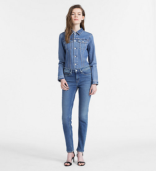 CALVIN KLEIN JEANS CKJ 011 Mid Rise Skinny Jeans - CHICO BLUE - CALVIN KLEIN JEANS THE DENIM INDEX - detail image 1