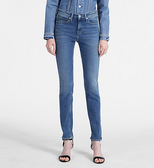 CALVIN KLEIN JEANS CKJ 011 Mid Rise Skinny Jeans - CHICO BLUE - CALVIN KLEIN JEANS THE DENIM INDEX - main image