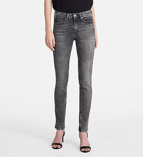 CALVIN KLEIN JEANS CKJ 011 Mid Rise Skinny Jeans - YUBA GREY - CALVIN KLEIN JEANS THE DENIM INDEX - main image
