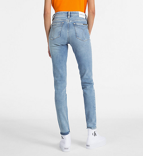 CALVIN KLEIN JEANS CKJ 011 Mid Rise Skinny Jeans - BAKER BLUE -  THE DENIM INDEX - detail image 1