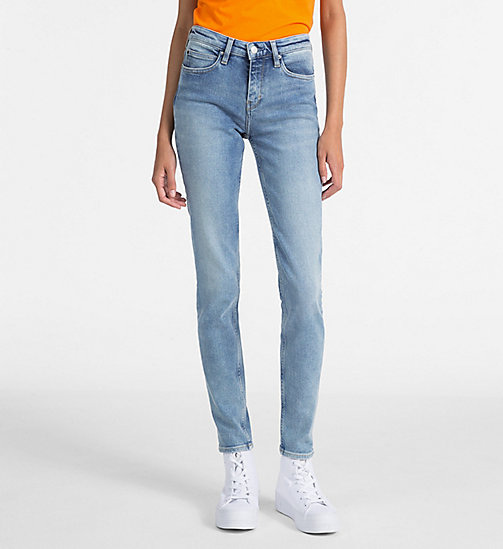 CALVIN KLEIN JEANS CKJ 011 Mid Rise Skinny Jeans - BAKER BLUE -  THE DENIM INDEX - main image
