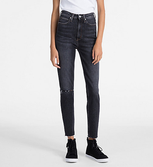 CALVIN KLEIN JEANS CKJ 010 High Rise Skinny Ankle Jeans - HIGHLAND BLACK - CALVIN KLEIN JEANS SKINNY JEANS - main image