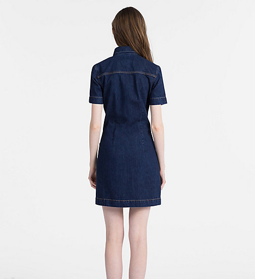 CALVIN KLEIN JEANS Denim Zip-Up Dress - DARK STONE -  NEW ICONS - detail image 1
