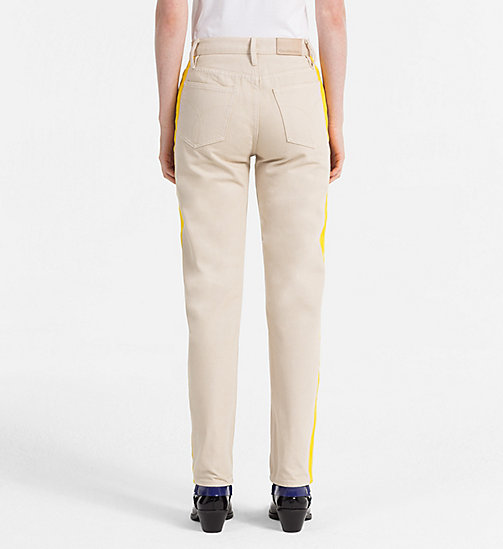 CALVIN KLEIN JEANS High Rise Straight Taped Jeans - KHAKI/SPECTRE YELLOW - CALVIN KLEIN JEANS NEW IN - detail image 1