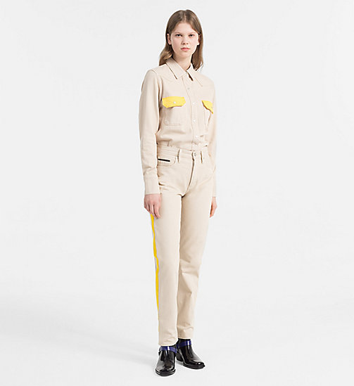 CALVIN KLEIN JEANS Contrast-Trimmed Western Shirt - KHAKI/SPECTRE YELLOW - CALVIN KLEIN JEANS SHIRTS - detail image 1