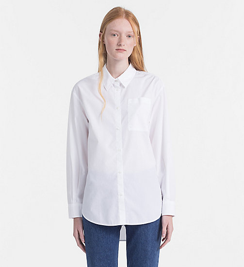 CALVIN KLEIN JEANS Oversized Poplin Shirt - BRIGHT WHITE - CALVIN KLEIN JEANS NEW IN - main image