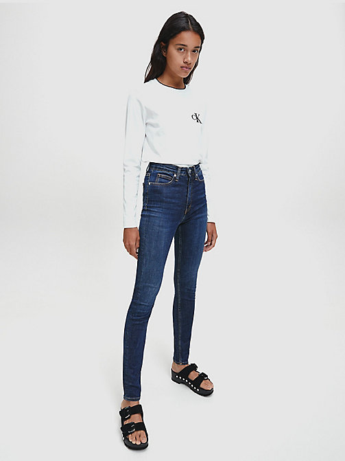 CALVIN KLEIN JEANS CKJ 010 High Rise Skinny Jeans - AMSTERDAM BLUE DARK - CALVIN KLEIN JEANS THE DENIM INDEX - dettaglio immagine 1