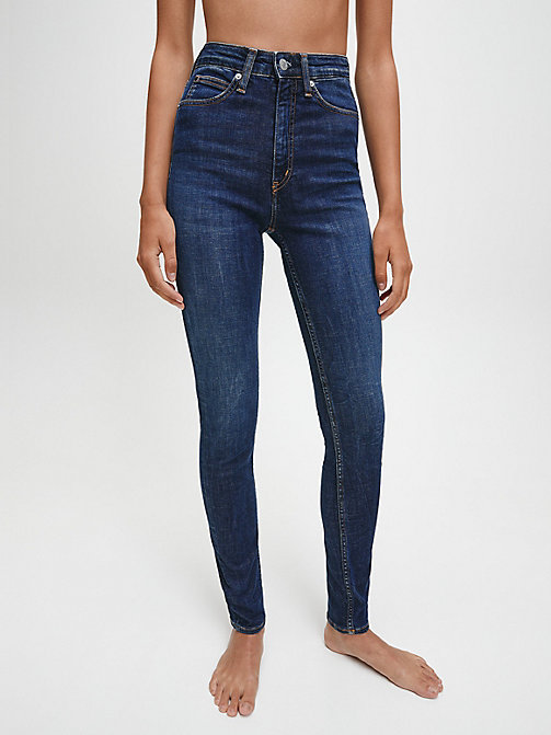 CALVIN KLEIN JEANS CKJ 010 High Rise Skinny Jeans - AMSTERDAM BLUE DARK - CALVIN KLEIN JEANS THE DENIM INDEX - main image