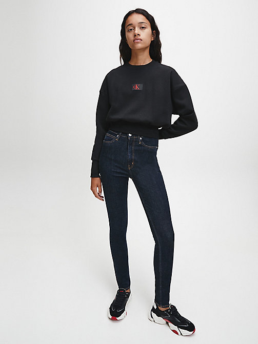 CALVIN KLEIN JEANS CKJ 010 High Rise Skinny Jeans - AMSTERDAM BLUE RINSE - CALVIN KLEIN JEANS THE DENIM INDEX - dettaglio immagine 1
