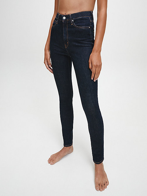 CALVIN KLEIN JEANS CKJ 010 High Rise Skinny Jeans - AMSTERDAM BLUE RINSE - CALVIN KLEIN JEANS THE DENIM INDEX - main image