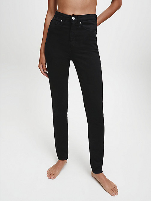 CALVIN KLEIN JEANS CKJ 010 High Rise Skinny Jeans - ETERNAL BLACK - CALVIN KLEIN JEANS FALL DREAMS - main image