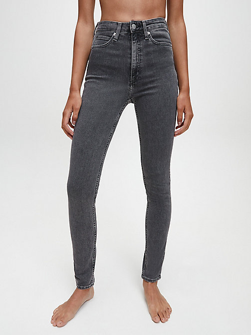 CALVIN KLEIN JEANS CKJ 010 High Rise Skinny Jeans - STOCKHOLM GREY - CALVIN KLEIN JEANS THE DENIM INDEX - main image