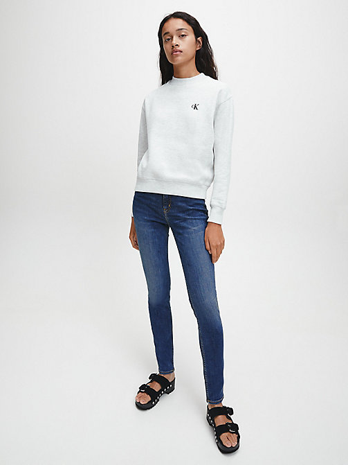 CALVIN KLEIN JEANS CKJ 011 Mid Rise Skinny Jeans - AMSTERDAM BLUE MID -  THE DENIM INDEX - detail image 1