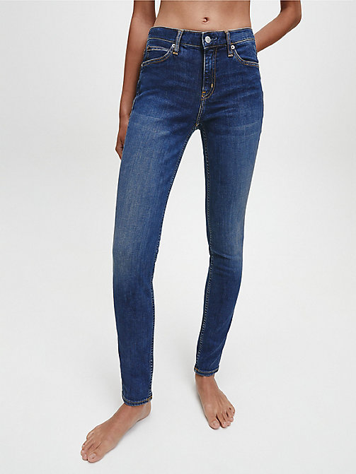 CALVIN KLEIN JEANS CKJ 011 Mid Rise Skinny Jeans - AMSTERDAM BLUE MID -  THE DENIM INDEX - main image