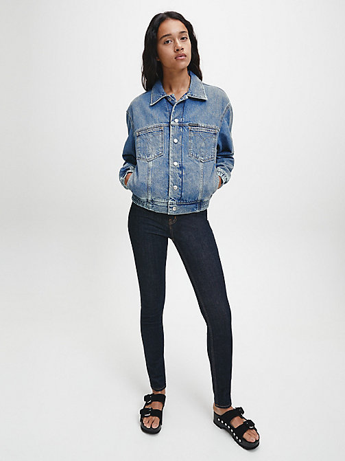 CALVIN KLEIN JEANS CKJ 011 Mid Rise Skinny Jeans - AMSTERDAM BLUE RINSE - CALVIN KLEIN JEANS SKINNY JEANS - detail image 1