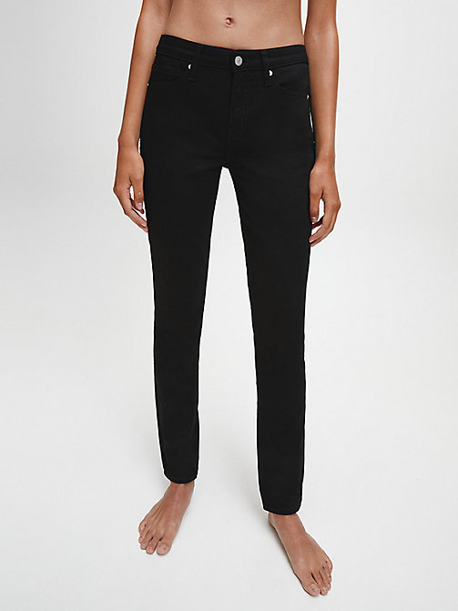CALVIN KLEIN JEANS CKJ 011 Mid Rise Skinny Jeans - ETERNAL BLACK -  THE DENIM INDEX - main image